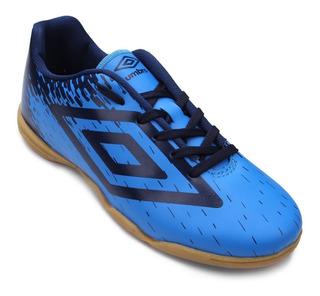 Tenis Futsal Umbro Acid Jr Infantil Azul - Pronta Entrega