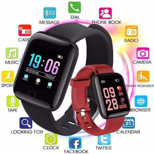 Reloj Deportivo Inteligente 116 Plus, Pulso Cardíaco