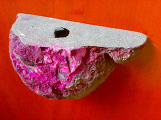 Geoda Blanca Rosa Para Vela O Pisapape Artesanias Mineral