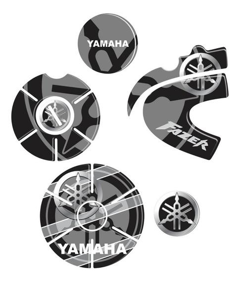 Kit Protetor Adesivo Motor Fazer 250 Ys Resinado