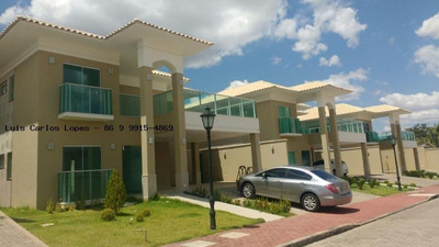 Casa Em Condomínio Para Venda Em Teresina, Novo Uruguai/br-343, 4 Dormitórios, 3 Suítes, 5 Banheiros, 6 Vagas - Casa Nova Villa De Valega
