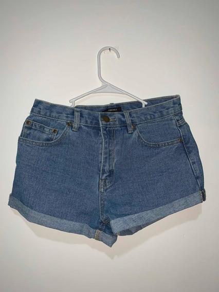 Short Forever 21 Jeans Cropped Tamanho P Original