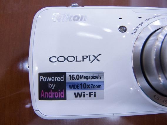 Câmera Nikon Coolpix S800c (android)