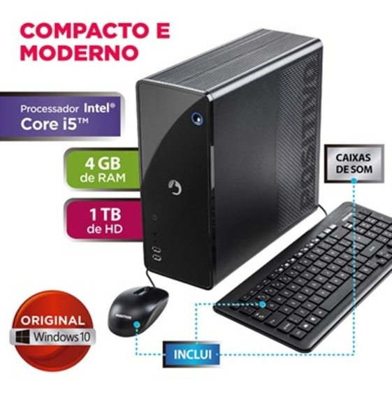 Computador Positivo Stilo Ds8667 Core I5 4gb 1tb Windows 10