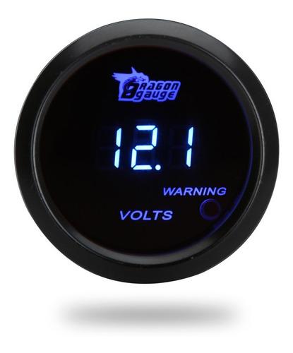 Medidor De Voltaje Digital Para Coche Auto 52 Mm 2in Lcd 0 ~