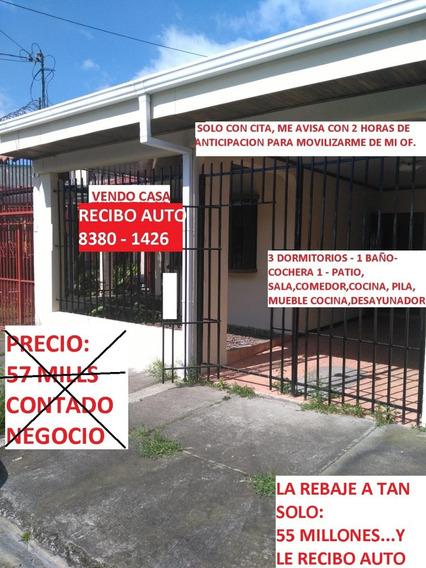 Casa En Guadalupe Mozotal 52 Millones - 138 Mts Recibo Auto