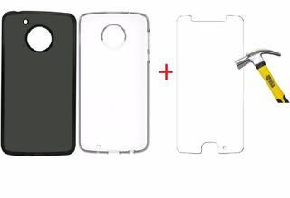 Capa Capinha Tpu Motorola Moto G5 Xt1672 + Pelicula De Vidro