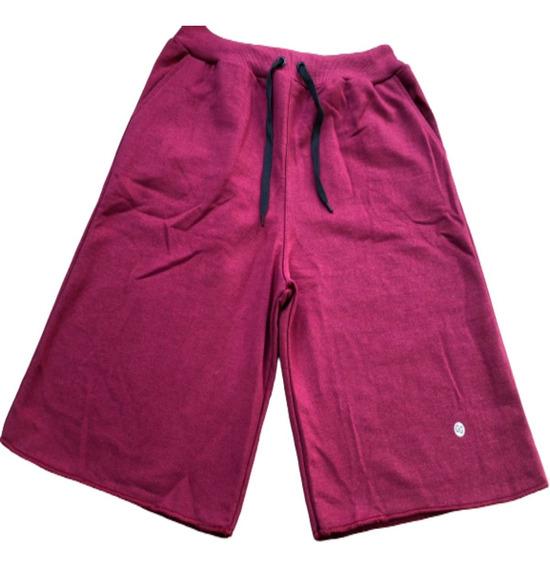 Bermuda Shorts Moletom Liso Com Amarração Academia Treino