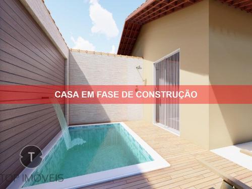Casa  2 Dormitórios Nova Com Piscina  À Venda Em Itanhaém,são Paulo,bairro Nova Itanhaém, Sendo Um Dos Dormitórios Suíte - Ca00489 - 68314483