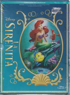 La Sirenita La Trilogía Bluray 3 Películas Nacional Agotado
