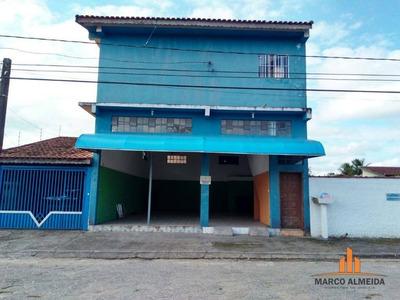 Salão Comercial Para Locação, Grandesp, Itanhaém. - Sl0001