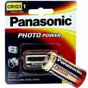 60 Bateria Pilha 3v Cr123a Lithium Photo Original Panasonic