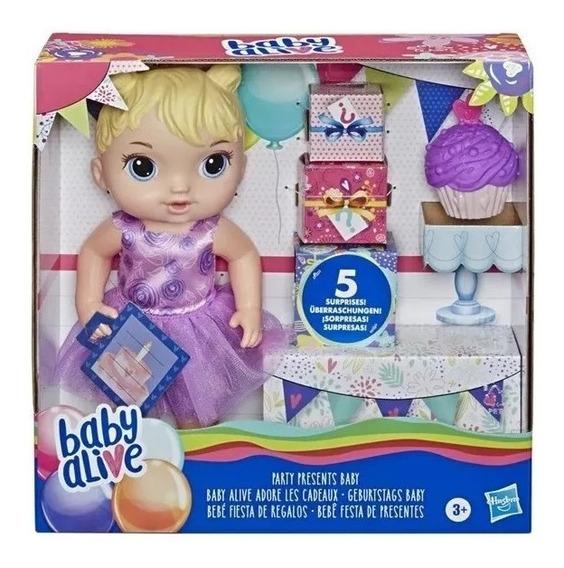 Nova Baby Alive Festa Dos Presentes Surpresa Loira Hasbro