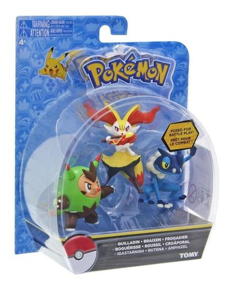 Quilladin, Braixen & Frogadier Pokémon Nintendo Tomy T18840