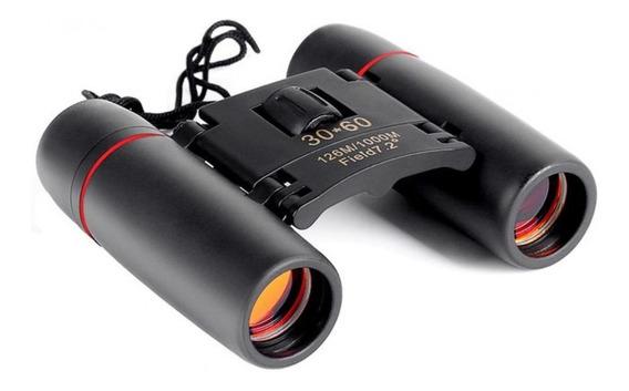 Binóculo Dobrável Visão Noturna 30x60 Zoom Telescópio Preto