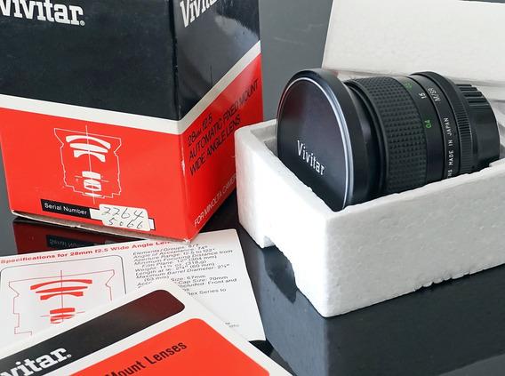 Lente Vivitar 28mm F2.5 - Como Nova\embalagem Original
