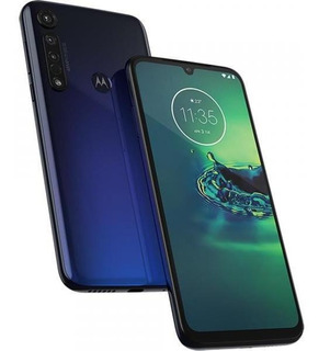 Smartphone Moto G8 Plus 64gb Azul Xt2019 Pronta Entrega