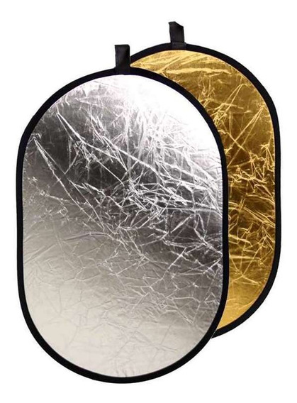 Rebatedor Fotográfico Mais Barato Prata E Dourado 60x90cm