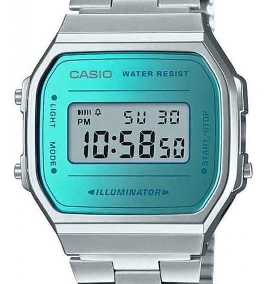 Relógio Casio Unisex A168wem-2df Garantia + Original + Nf