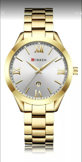 Relógio Feminino Curren 9007 Dourado Original
