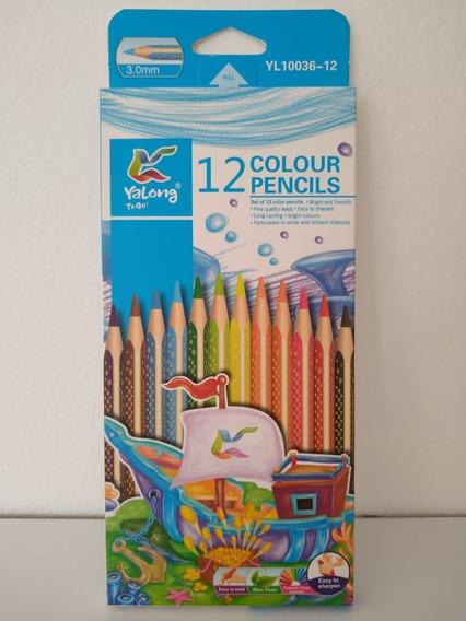 Bulto De 10 Unidades Lapices X12 Colores Largos