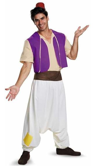 Disfraz Adulto Aladdin Disney Traje Aladino Original Hombre