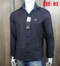 Camisas Social Slim Fit Kit Com 04 Camisas.