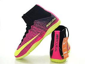 Chuteira Botinha Elite Acc Vl Cano Alto Futsal Pink