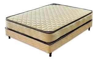Colchon Y Somier Piero Bahia 190x140x52 Pillow Top Jac
