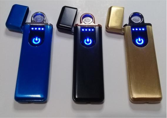 Isqueiro Elétrico Ecológico Usb Recarregável Touch Promoção
