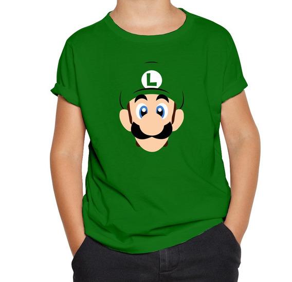 Playera Mario Bros Luigi Niño Niña Nintendo Personalizada
