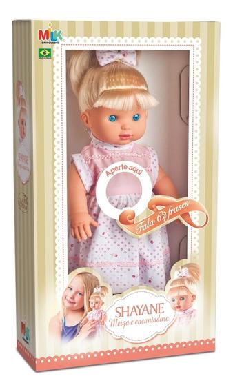 Boneca Shayane Fala 62 Frases Menina Milk Brinquedos