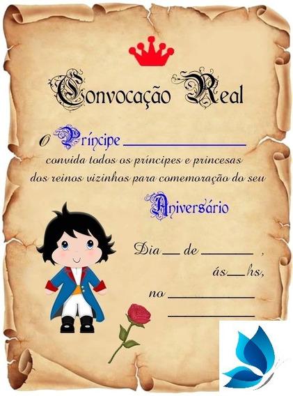 30 Convite Pergaminho Pequeno Príncipe Moreno