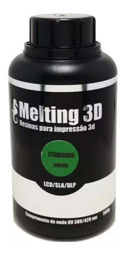 Resina Melting 3d - Verde Translúcida - Standard