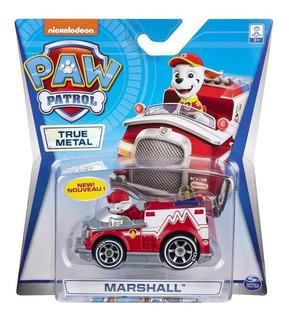 Paw Patrol Vehiculo Con Figura De Metal Original