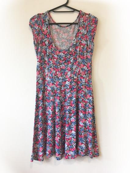 Vestido Floreado Seda Fría - Talle 2