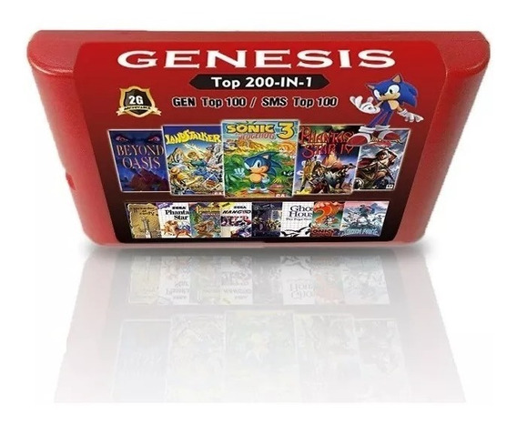 Cartucho 200 Jogos Mega Drive E Master System Phantasy Star