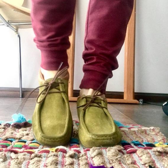 Zapatos De Gamuza Verde 38 Febo