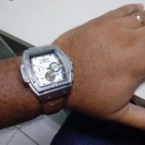 Relógio Masculino Com Pulseira De Couro