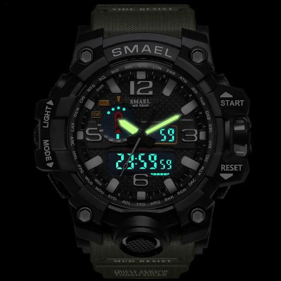 Relógio Masculino Militar Esporte- Smael P. Choque P.água
