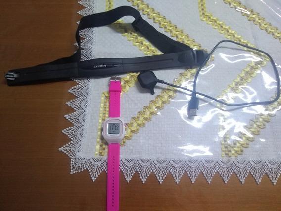 Relógio Gps Monitor Cardíaco Garmin 25 Furerunner Rosa