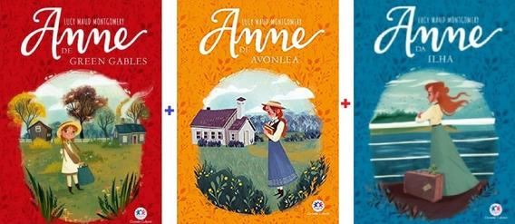 Kit 3 Livros Série Anne De Green Gables + Avonlea + Ilha
