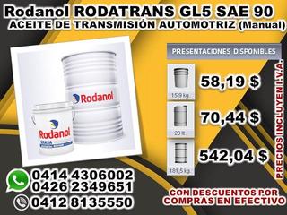 Válvulina Rodatrans Aceite De Transmisión Gl5 Sae 90 / 140
