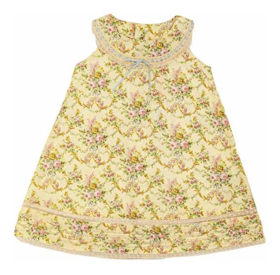 Vestido T 2, 4 Y 8 Años Flores T 2020 Little Akiabara Nuevo