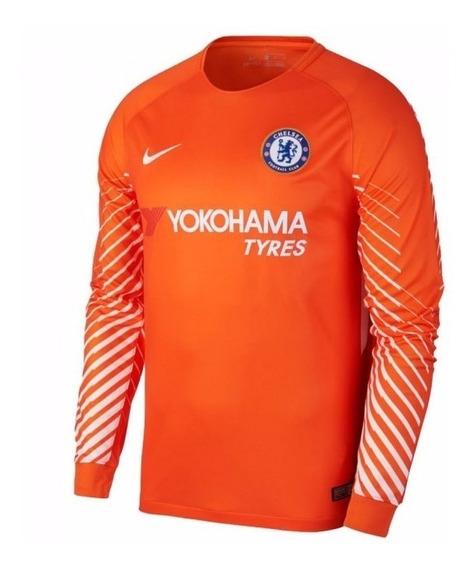 Camisa Chelsea Laranja Goleiro 17-18 Importada