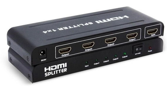 Splitter Distribuidor 1x4 Cabo Hdmi Full Hd 3d 1080p Xbox Pc