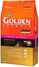 Premier Golden Ração Cães Filhotes. Frango E Arroz Mini Bits