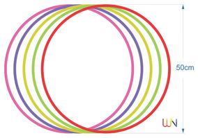 12 Bambolês Arco Infantil Reforçado 50 Cm Colorido/ Atacado¨