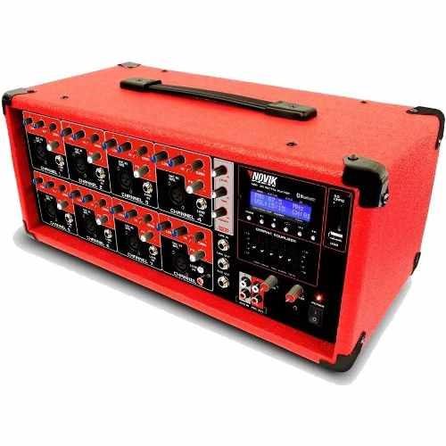 Mesa De Som Novik Cabeçote Amplificado Ativo Nvk-8500bt