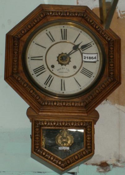 Rp2 Reloj Pared Pèndulo Medio Carrillòn Madera Còd. 21864